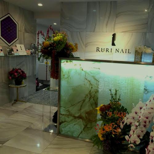 RURI NAIL インテリア 青山 オニキス